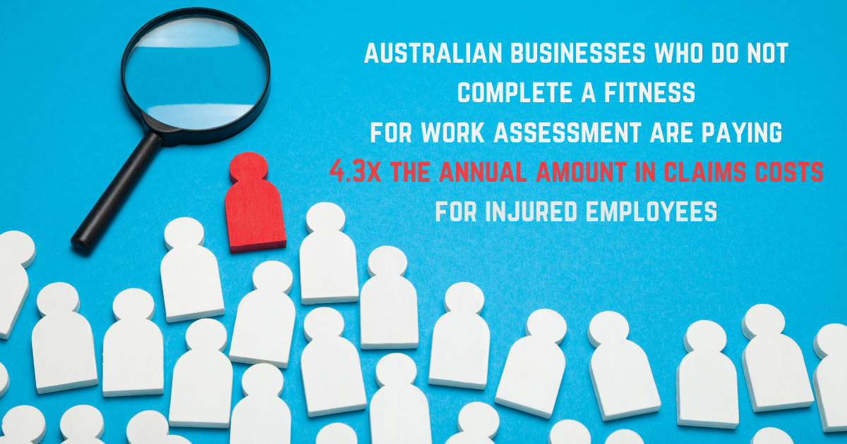 Medicals vs. Fitness for Work Assessments (F4W©) and why they're important for your business